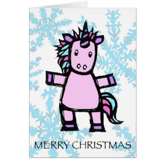 merry christmas - uri the unicorn card