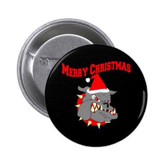 Merry Christmas USMC Devil Dog Button