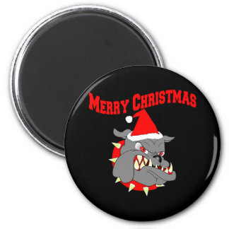 Merry Christmas USMC Devil Dog Magnet