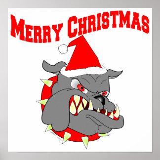 Merry Christmas USMC Devil Dog Print