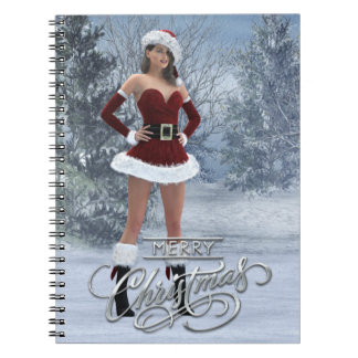 Merry Christmas Vicky Spiral Note Books