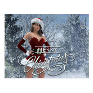 Merry Christmas Vicky Postcard
