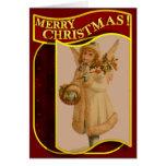 Merry Christmas Vintage Angel Christmas Card