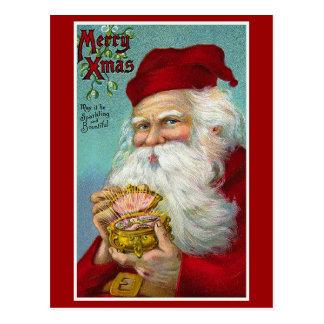 Merry Christmas Vintage Christmas Card Postcard