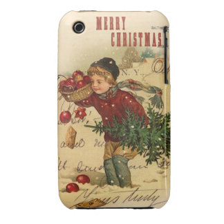 Merry Christmas Vintage Christmas Collage iPhone 3 Case