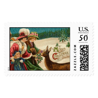 Merry Christmas Vintage Christmas Stamps