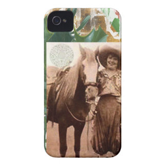 Merry Christmas Vintage Cowgirl Horse iPhone 4 Cases