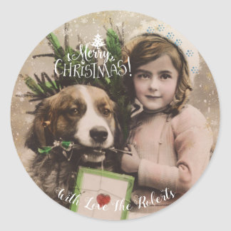 Merry Christmas vintage holiday gift tags