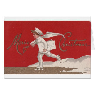 Merry Christmas Vintage Ice Skater. Card