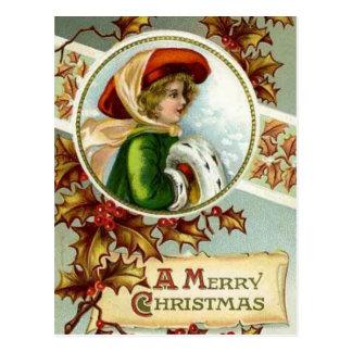 Merry Christmas Vintage Postcard