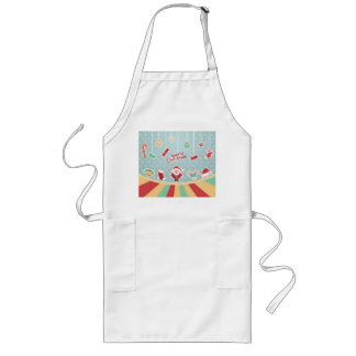 Merry Christmas vintage Santa Claus Long Apron