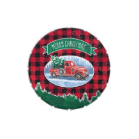 Merry Christmas Vintage Truck Jelly Belly Candy Tin