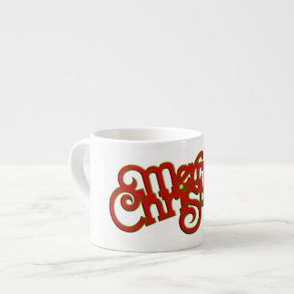 MERRY CHRISTMAS - vintage Xmas text design Espresso Cup