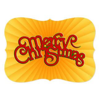"MERRY CHRISTMAS - vintage Xmas text design 5"" X 7"" Invitation Card"