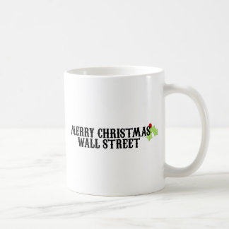Merry Christmas Wall Street Coffee Mug