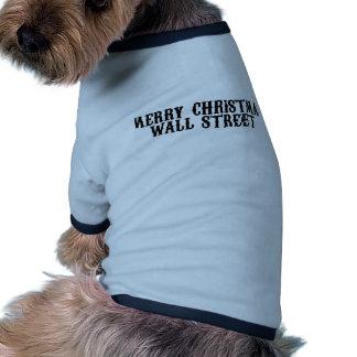 Merry Christmas Wall Street Pet Tshirt