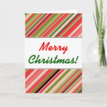"[ Thumbnail: ""Merry Christmas!"" + Watermelon-Inspired Stripes Card ]"