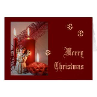 """Merry Christmas""   Weihnachtsgrußkarte - traditio Tarjeton"
