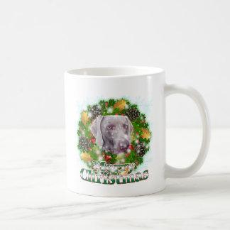 Merry Christmas Weimer Classic White Coffee Mug