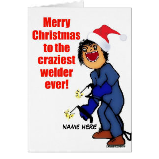 Merry Christmas Welder Card