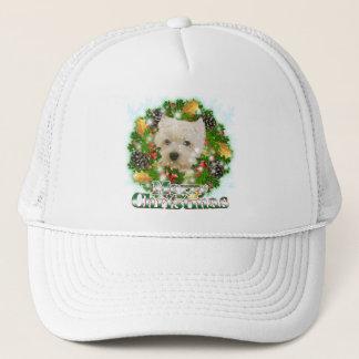 Merry Christmas Westie Trucker Hat