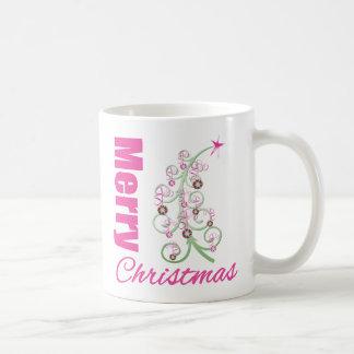 Merry Christmas Whimsical Tree Coffee Mug