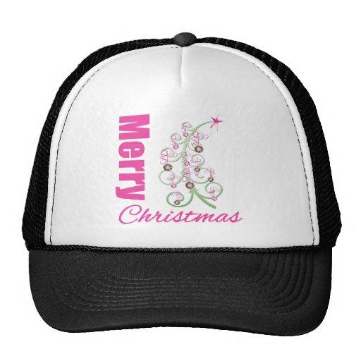 Merry Christmas Whimsical Tree Mesh Hat