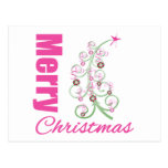 Merry Christmas Whimsical Tree Post Cards