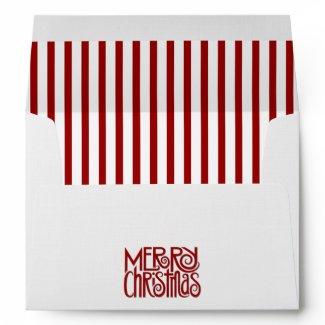 Merry Christmas white A7 Envelope envelope