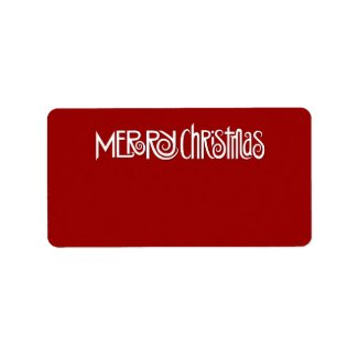 Merry Christmas white Address Label label