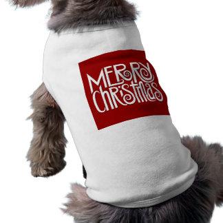 Merry Christmas white Dog T-shirt