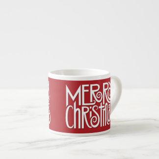 Merry Christmas white Espresso Mug