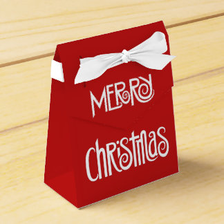 Merry Christmas white Favor Box