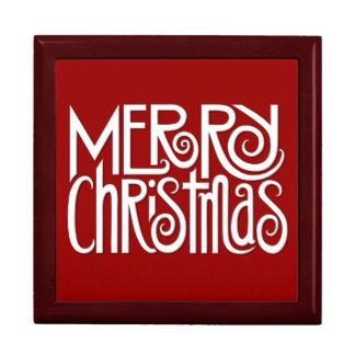 Merry Christmas white Gift Box