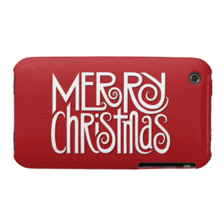 Merry Christmas white iPhone 3G 3GS Case iPhone 3 Case-Mate Case