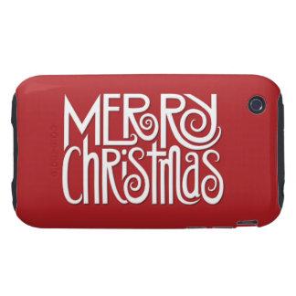 Merry Christmas white iPhone 3G 3GS Tough Case iPhone 3 Tough Cover