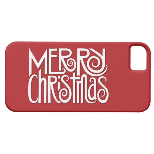 Merry Christmas white iPhone 5 Barely There Case