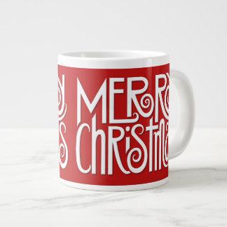 Merry Christmas white Jumbo Mug