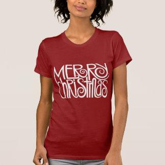 Merry Christmas White Ladies T-shirt