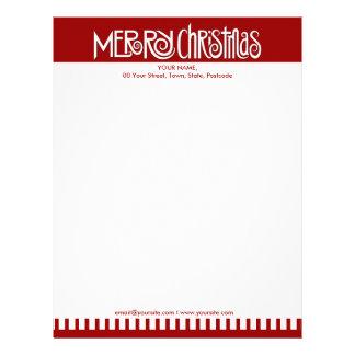 Merry Christmas white Letterhead