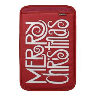 "Merry Christmas white MacBook Air 11"" Sleeve"