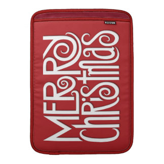 "Merry Christmas white MacBook Air 13"" Sleeve"