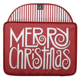 "Merry Christmas white Macbook Pro 15"" Sleeve"