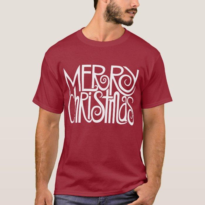 Merry Christmas White Mens T-shirt