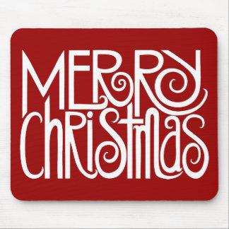Merry Christmas White Mousepad