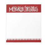 Merry Christmas white Notepad