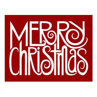 Merry Christmas White Postcard