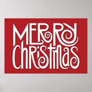 Merry Christmas white Poster