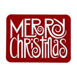 Merry Christmas white Premium Magnet