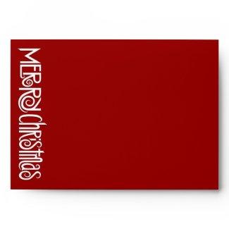 Merry Christmas white red A7 Envelope envelope